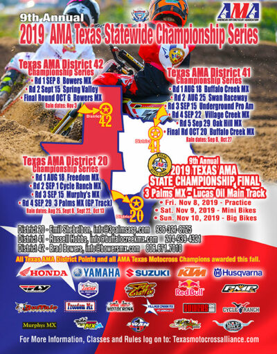 2019 AMA District 41 Statewide Championship Series