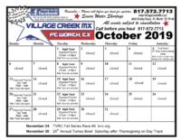2019 Village Creek Motocross Event Calendar