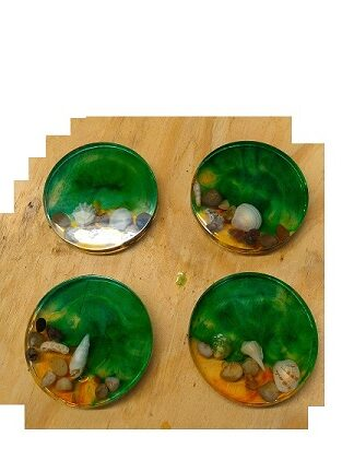 Resin Coasters (petri dish coasters)