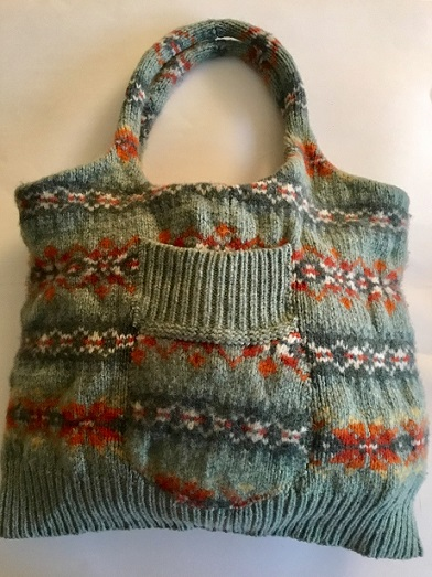 Sweater bags with Rachel