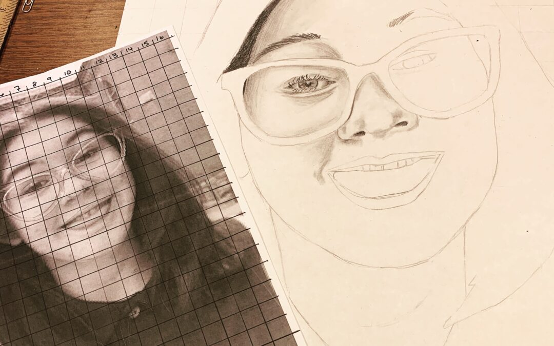 Drawing, Self portrait (beth)