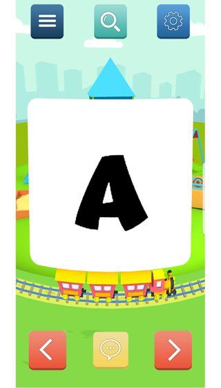flash card - letter a