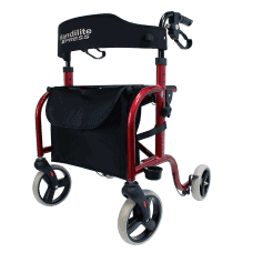 Handilite Walker Rollator-Red