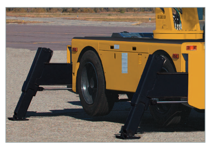 Manitex CD110 Truck Crane With Outriggers Extended