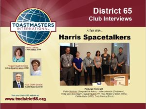 Harris Spacetalkers Interview