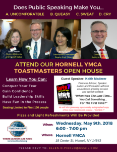 Hornell YMCA Open House Flyers PNG