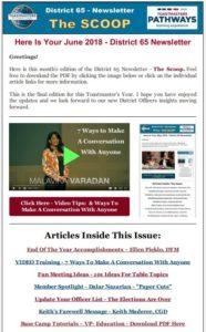 June 2018 D65 Newsletter