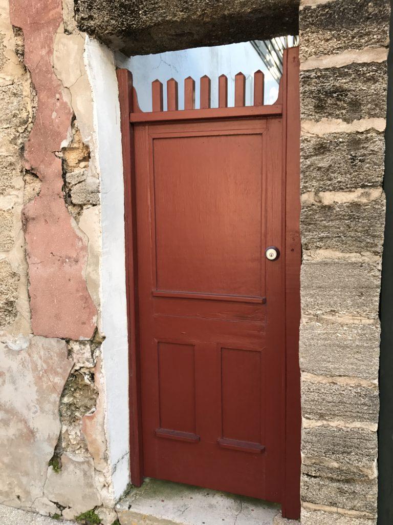 Maroon old door