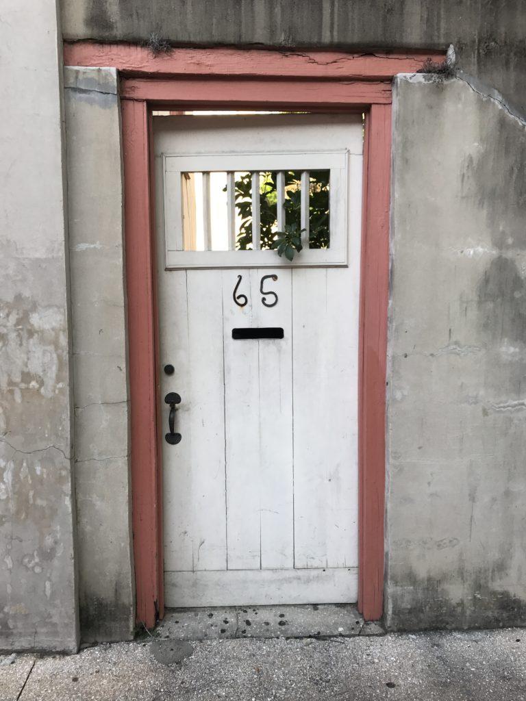 white Old Door