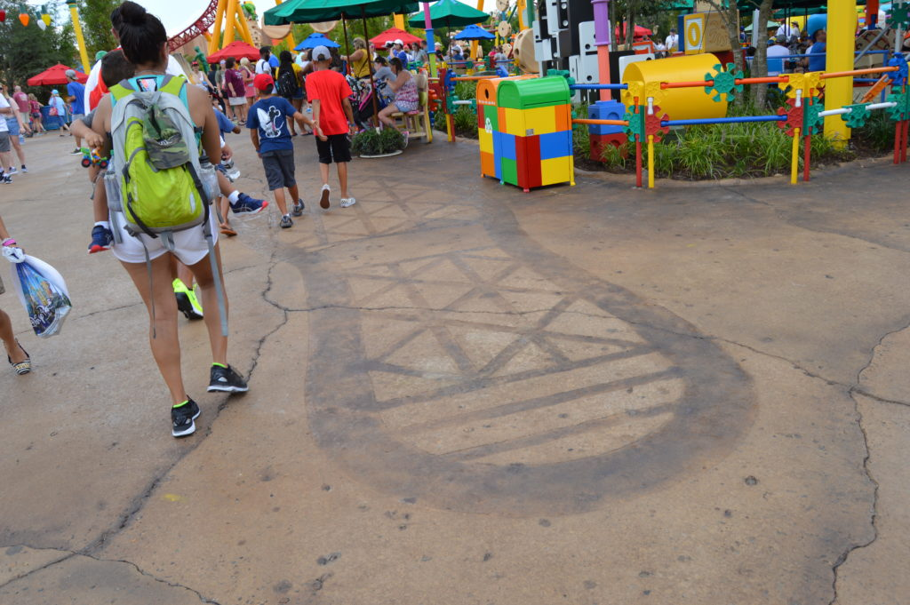 Large foot print on ground in Hollywood Studios