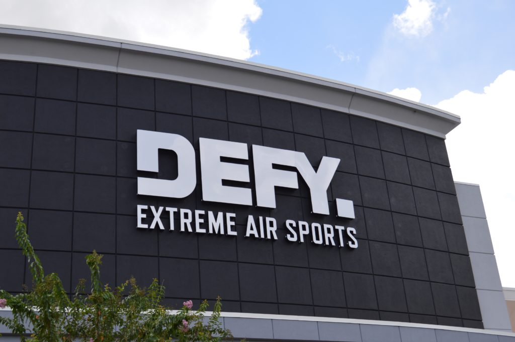 Defy Orlando outdoor sign