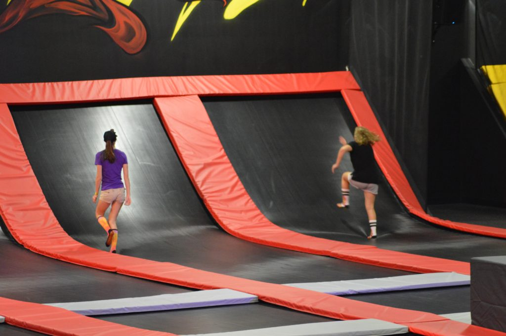 Defy Orlando trampolines that go up the wall
