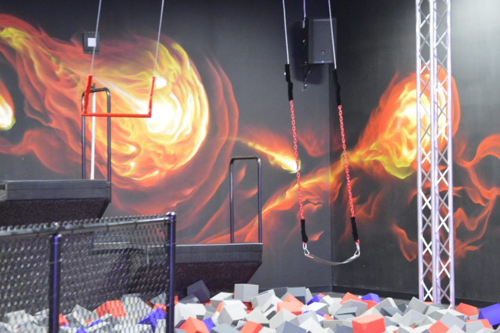 Defy Orlando swings into foam pits