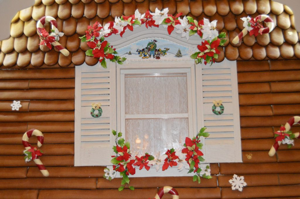 Window details on the Christmas gingerbread house is Disney's Grand Floridian