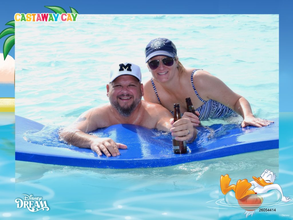 Couple in water at Castaway Cay