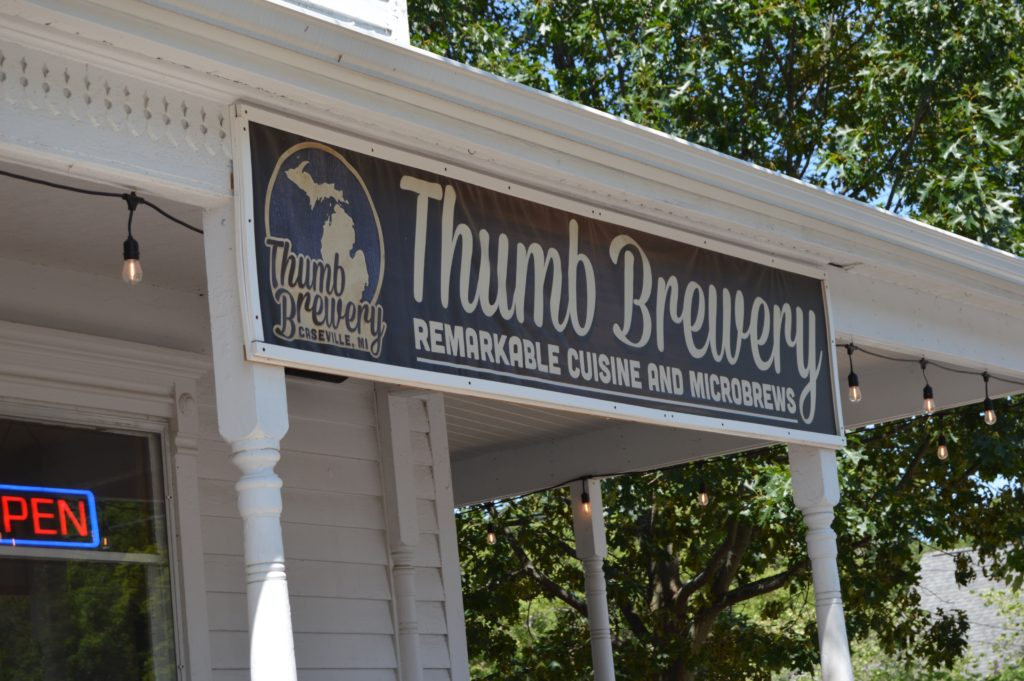 Thumb Brewery sign