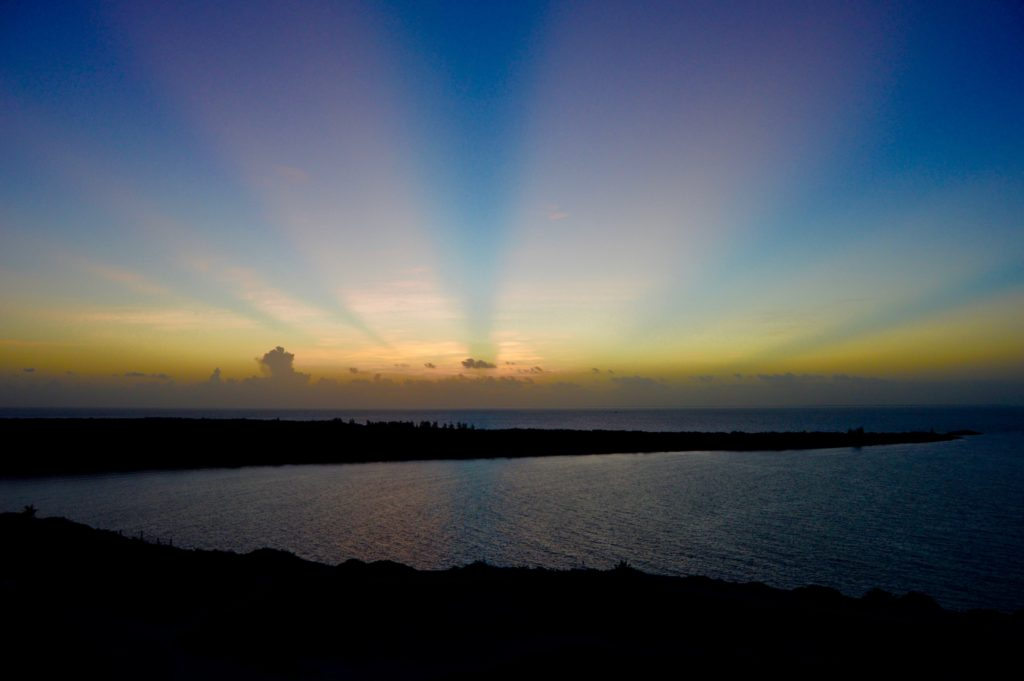 Sunrise over Disney's Castaway Cay
