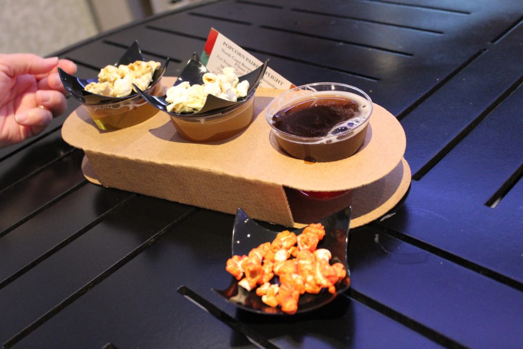 Popcorn flight with beer pairing