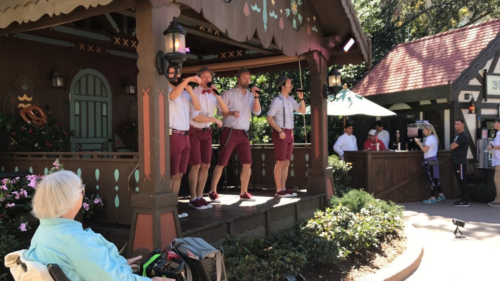 Germany singers at Epcot Festival of the Arts