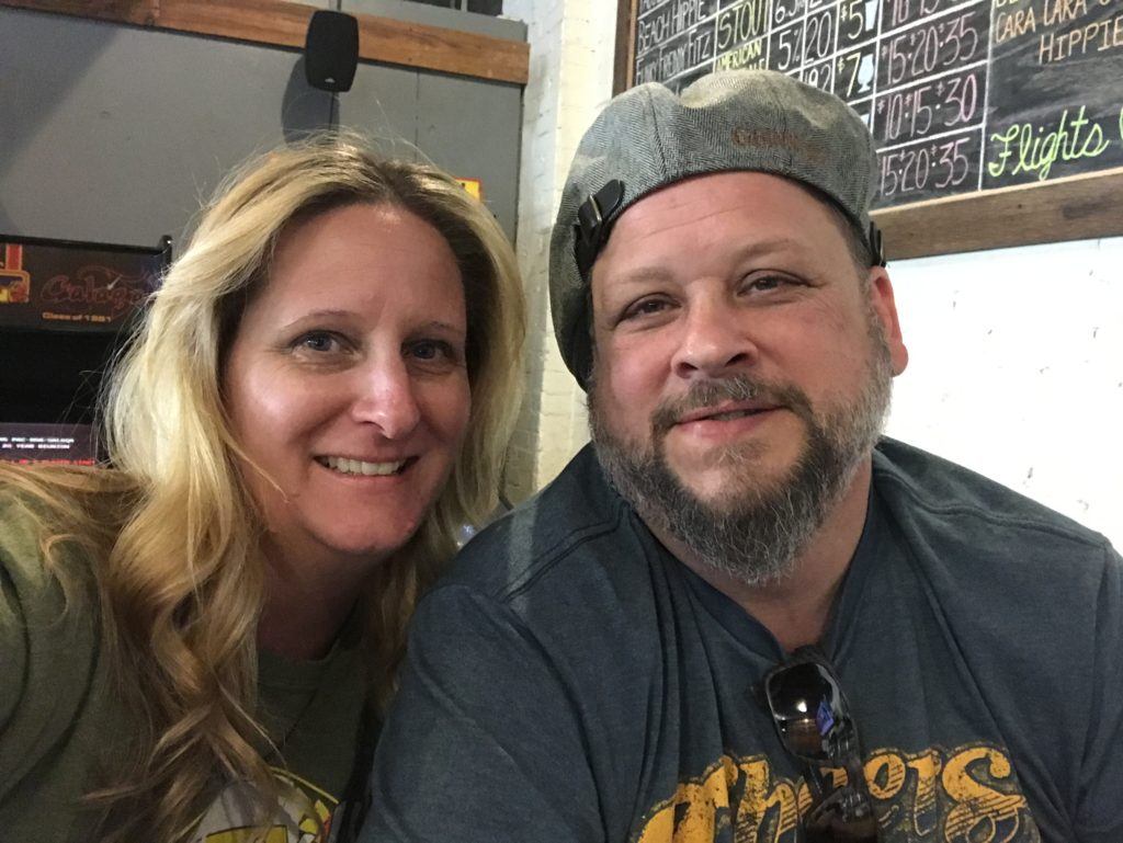 Couple selfie at Persimmon Hollow Brewing Company