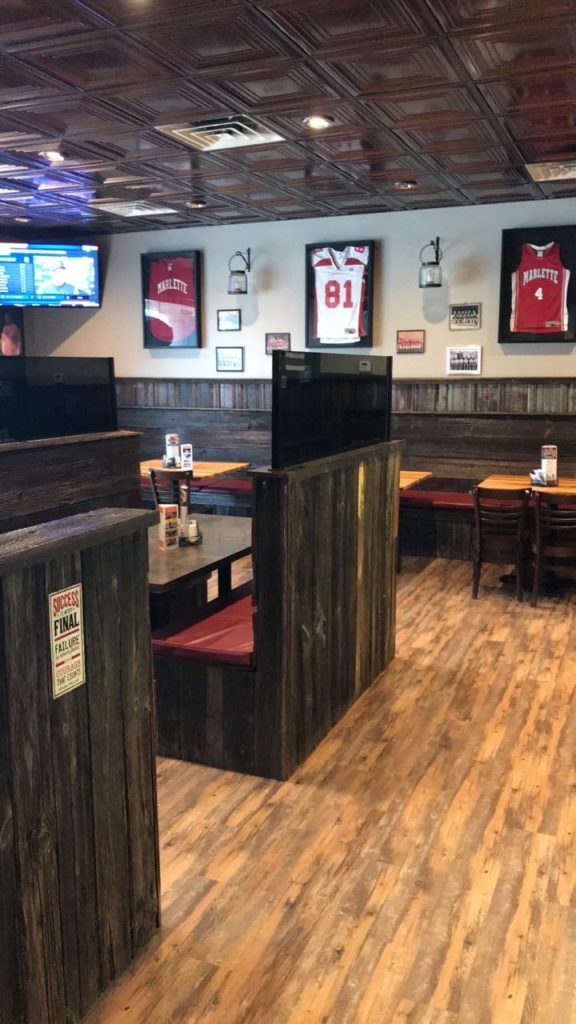 Inside Treve's Pizza in Marlette, Places to visit in Michigan's Thumb