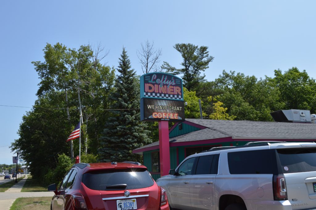 Lefty's Diner in Caseville, Michigan, places to visit in Michigan's Thumb