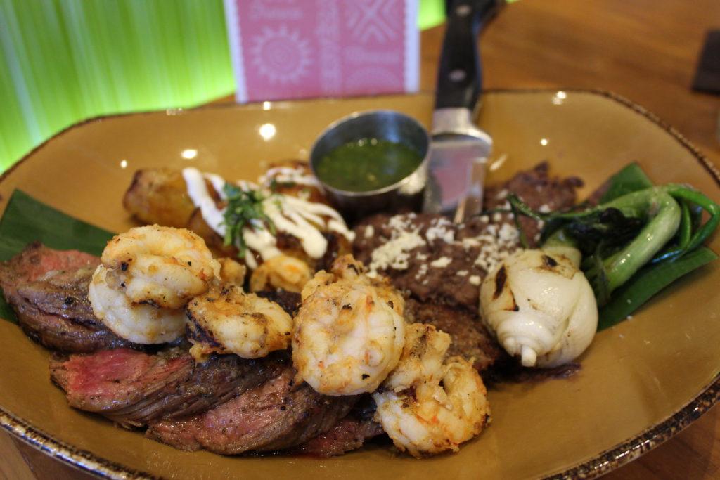 Carne Asada & Mojo Grilled Florida Shrimp on the new seasonal menu at Frontera Cocina