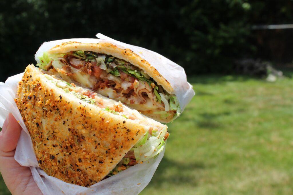 Turkey Club deli slice