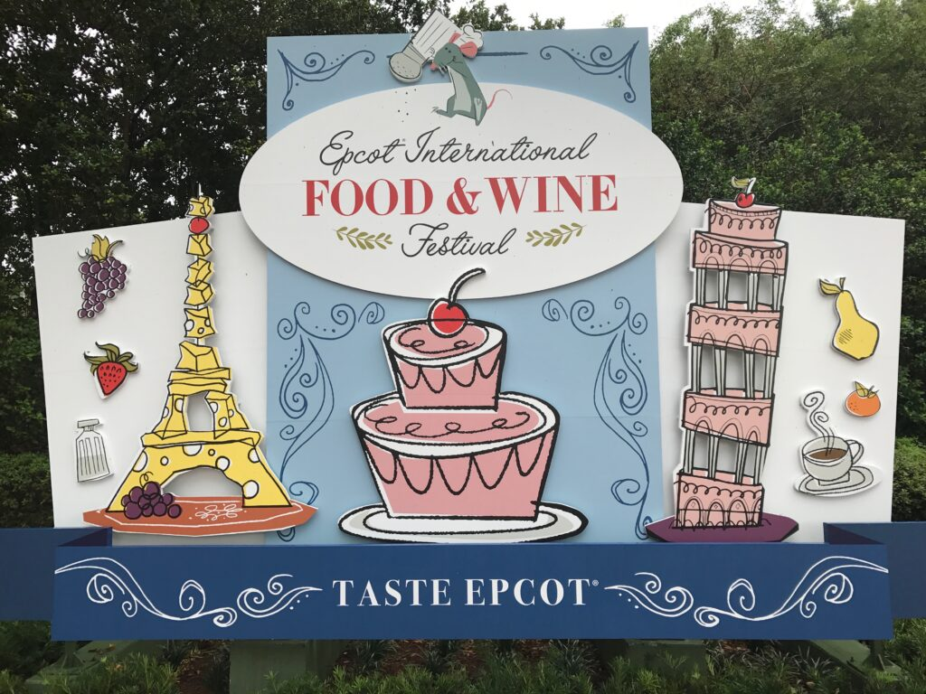 Epcot Food & Wine Festival sign