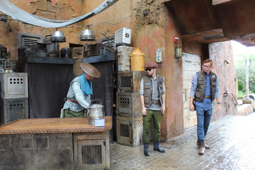 Cast members in Batuu Star Wars LandTip to visiting Galaxy's Edge
