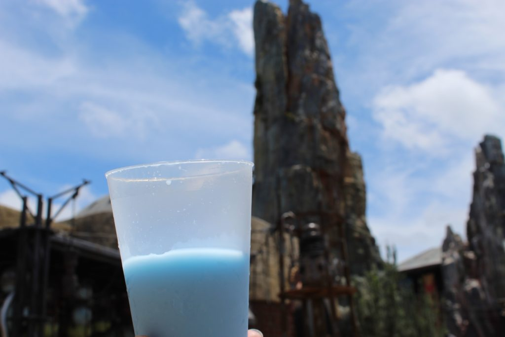 Glass of blue milk at galaxy's edge  Tip to visiting