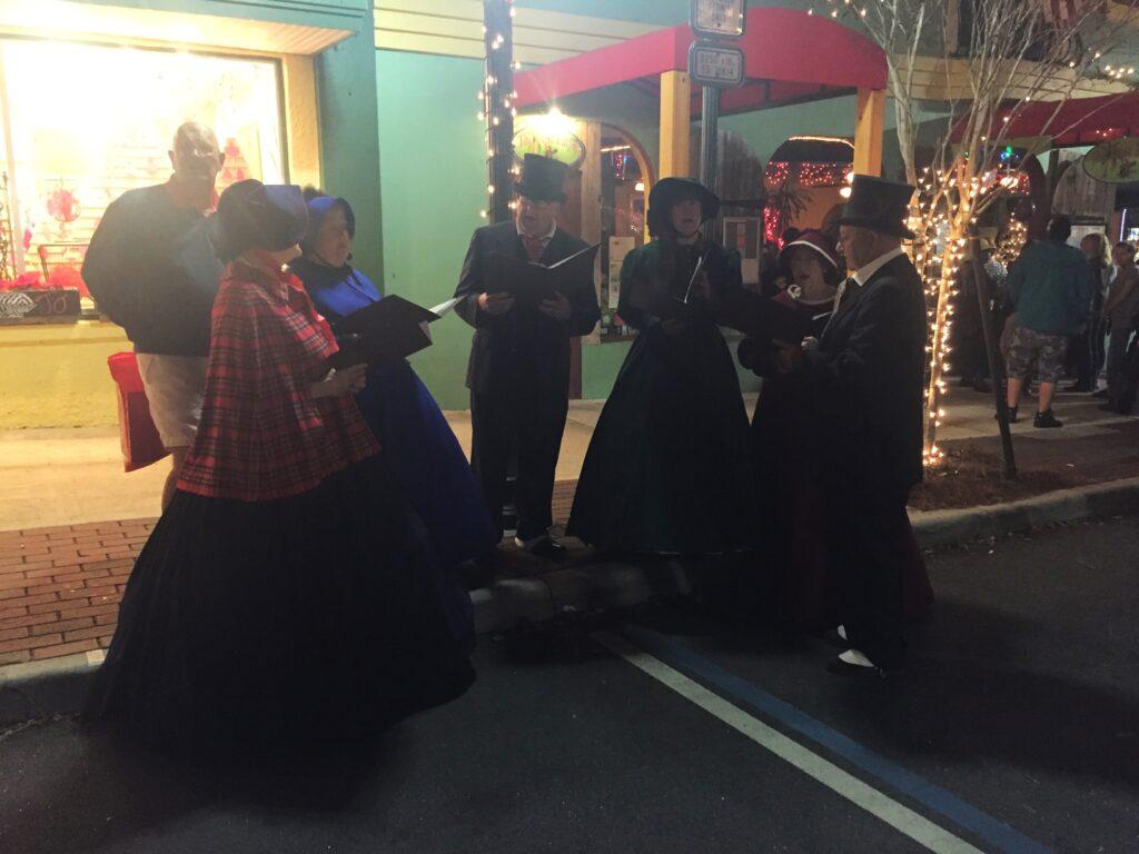 Christmas carolers at the Mount Dora Christmas walk