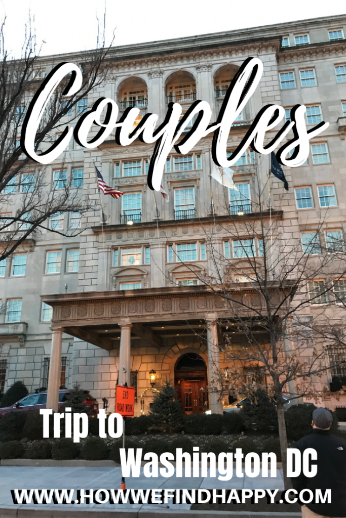 Pinterest graphic for couples trip to Washington DC
