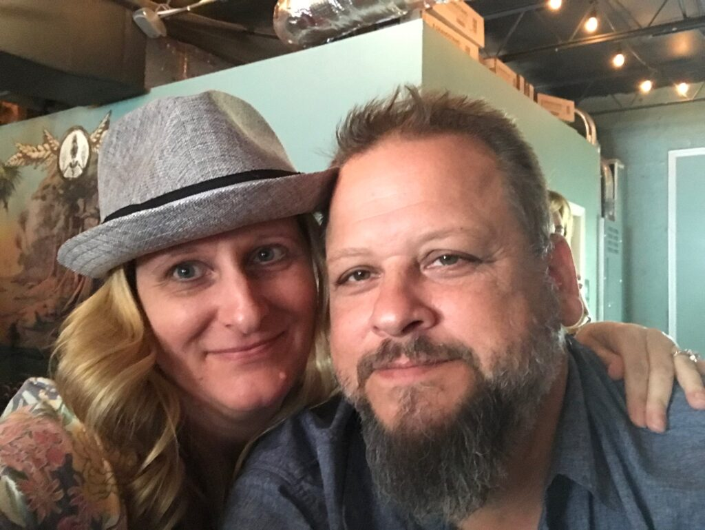 Couple inside Invasive Species Brewing