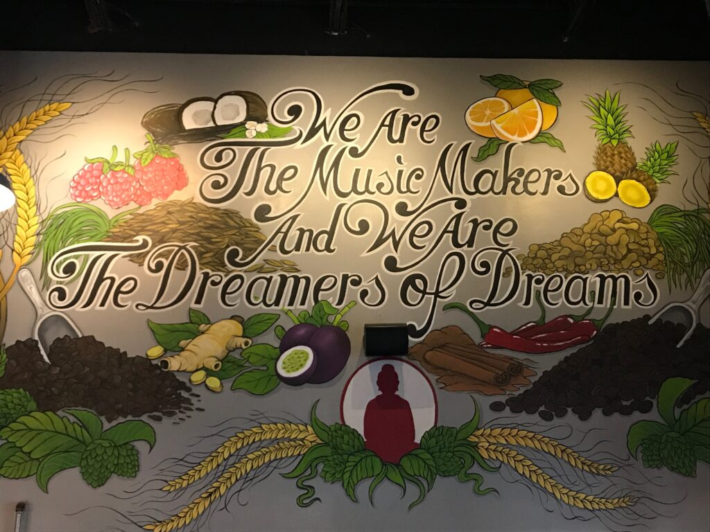 Mural inside Funky Buddha Brewery in Fort Lauderdale
