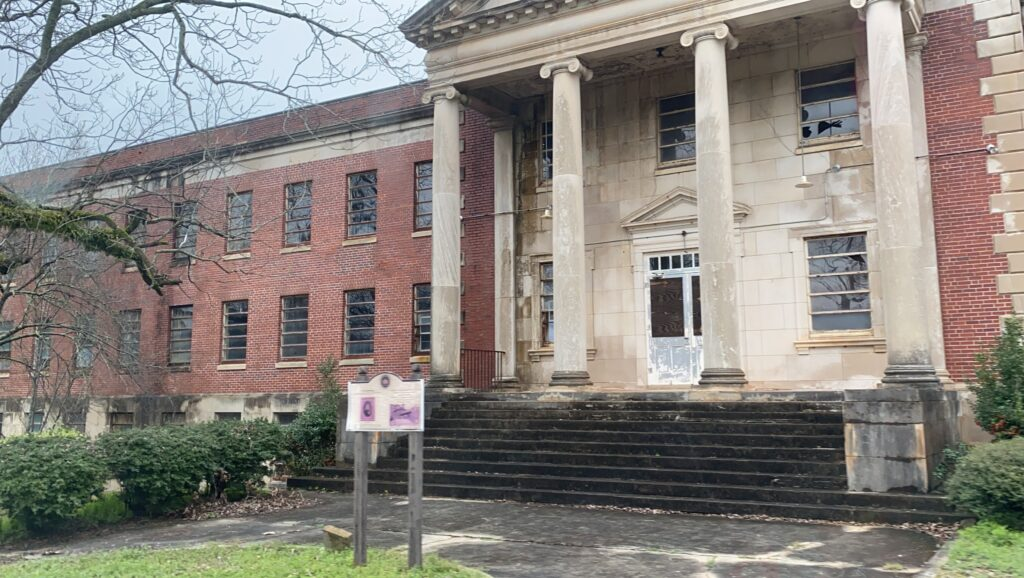 Abandoned building at Georgia Insane Asylum