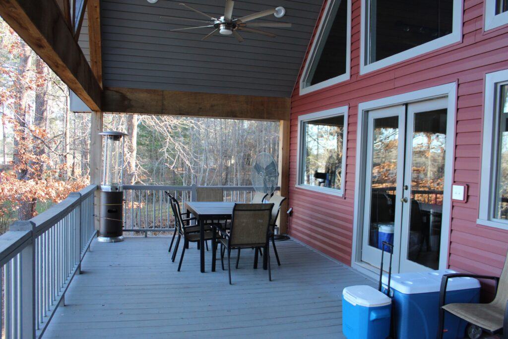 Back porch at Southern Water's Retreat