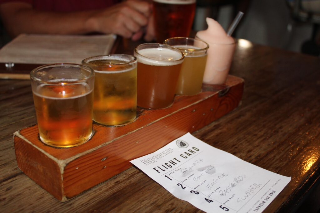 Flight at Batch Brewing in Detroit