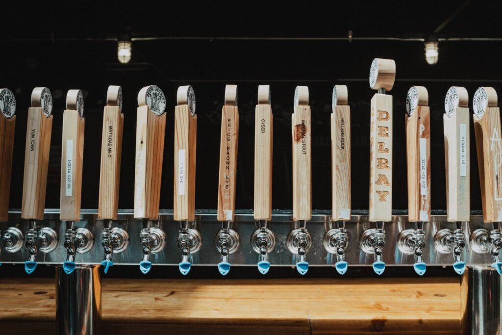 Breweries in Detroit Brew Detroit tap handles