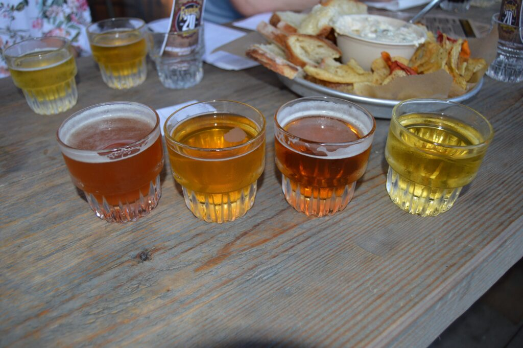 Beer flight at Breweries in Detroit Area