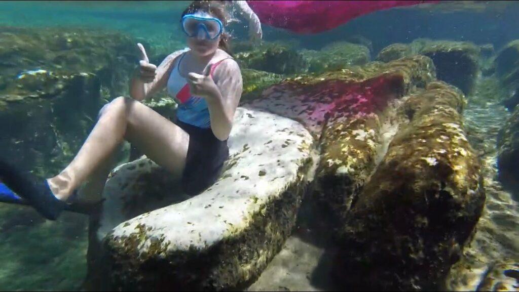Girl underwater at Salt Springs