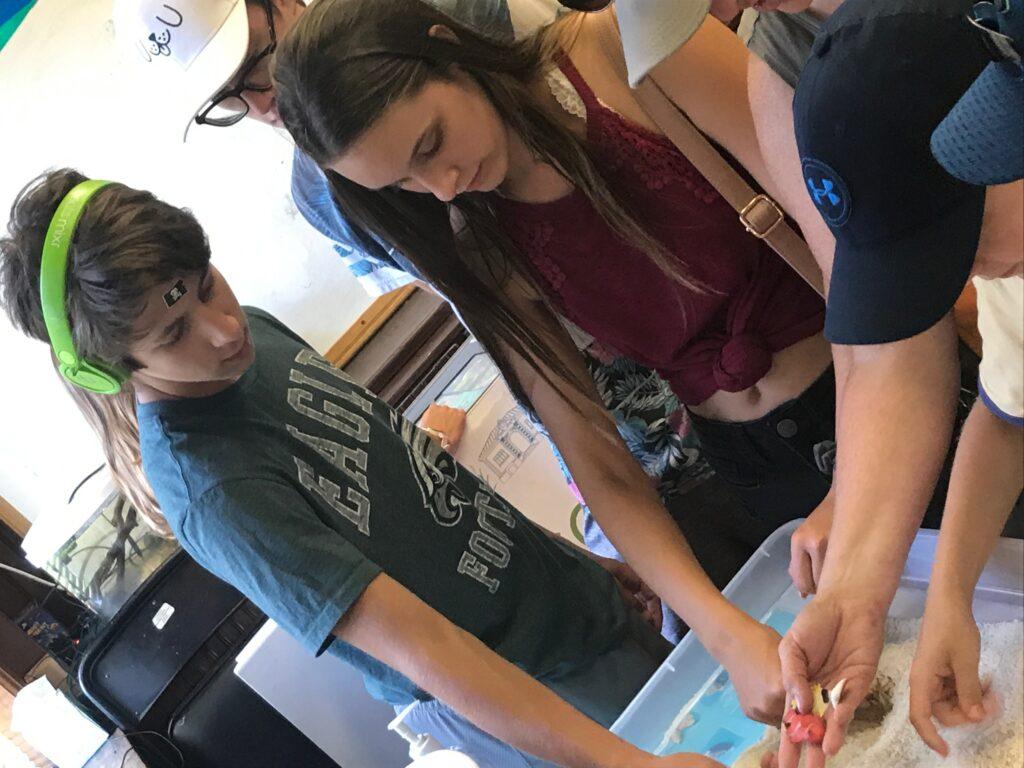 Teens at Belle Isle Aquarium