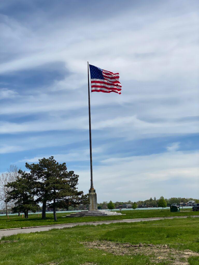 Flag Pole on Belle Isle Park Detroit