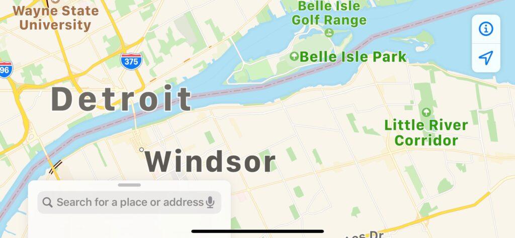 Map of Belle Isle Park Detroit