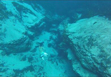 boy down underwater in Alexander Springs