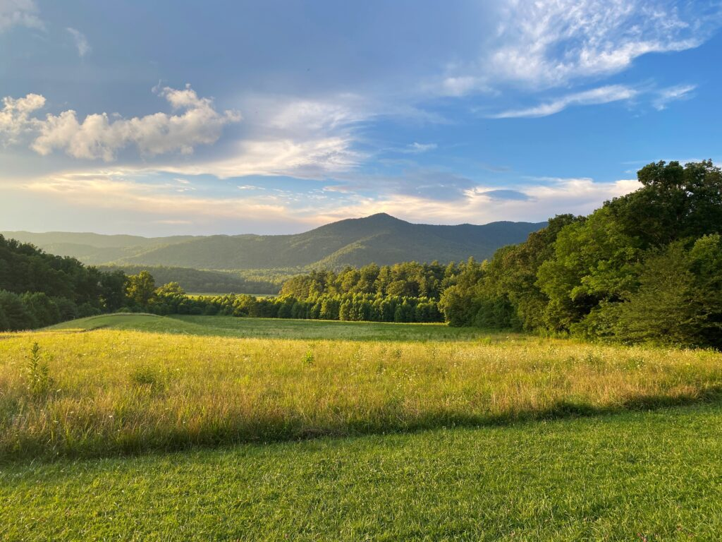 Mountain overlook in Cades Cove