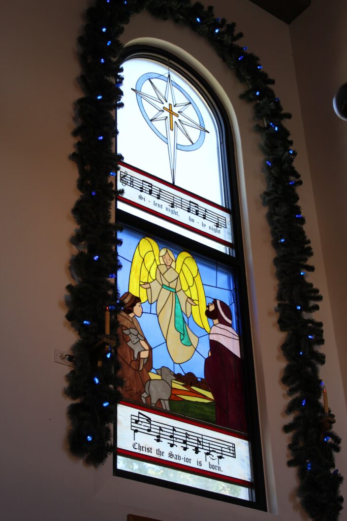 Stained Glass Window in Silent Night Chapel