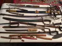 Antique sword collection