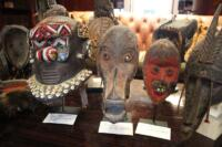 Collection of African masks