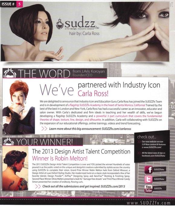 SUDZZfx announcement of partnership with Carla Ross